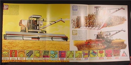 Magazine Ad For Allis Chalmers Gleaner Combines, Models E F & G, 1968, 6 Page Ad