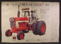 Magazine Ad For International Harvester 66 Series Tractor, 966 Farmall, 1971, Three Page Ad