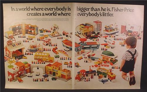 Magazine Ad For Fisher Price Vintage Little People Playsets, Almost Every Play Family Set, 1972