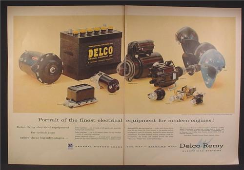 Magazine Ad For GM General Motors Engine Parts, Delco-Remy, Horns, Switches, 1956