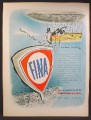 Magazine Ad For FINA Gas Stations, American Petrofina, Service Stations, 1959