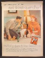 Magazine Ad For 7UP Seven-Up, Guy & Girl & Bassett Hound Dog, Goes Great With Any Date, 1959