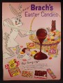 Magazine Ad For Brach's Easter Candies, Bugs Bunny, Chocolates, Creme Eggs, 1959