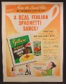 Magazine Ad For Gattuso Instant Spaghetti Sauce Mix & Tomato Paste, 1958