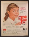 Magazine Ad For Carnation Instant Milk, Girl With Milk Moustache, Early Got Milk, Crystals, 1960