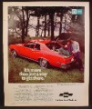 Magazine Ad For Chevrolet Chevy Nova Hatchback Coupe Car, Rear & Side View, 1973