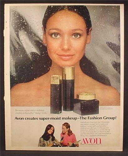 Magazine Ad For Avon The Fashion Group MakeUp, Super Moist, 1972