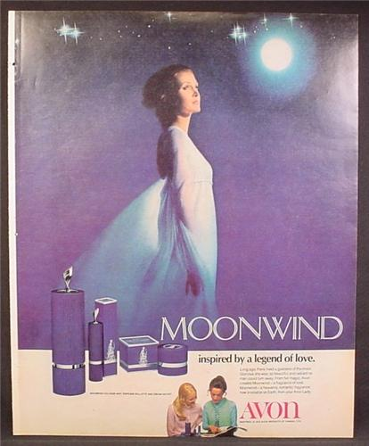 Magazine Ad For Avon Moon Wind Perfume, Fragrance, Inspired By A Legend Of Love, 1972