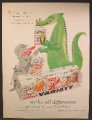 Magazine Ad For Kellogg's Cereal Variety Pack, Knight & Dragon, 1958