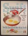 Magazine Ad For Swift Brookfield Eggs, Carton, Butter, Cheese, 1952