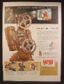 Magazine Ad For Ampro 8mm Movie Projector, Steam Punk Looking Projector, 1947