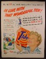 Magazine Ad For Tide Laundry Soap, Woman In Love With Her Tide, 1950, 10 1/2 by 13 1/2