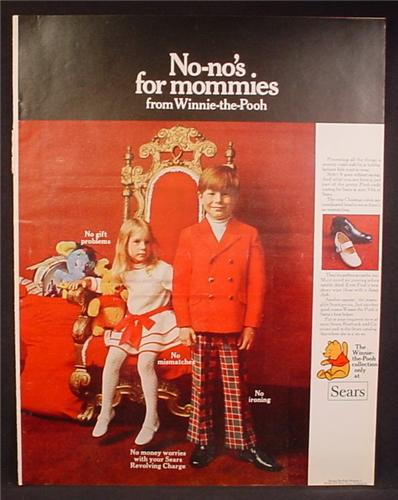 Magazine Ad For Sears Winnie The Pooh Clothes Collection for Children, 1969, 10 1/4 by 13 1/4