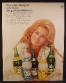 Magazine Ad For Canada Dry Drinks, Ann Margret, Celebrity Endorsement, Margaret, 1969
