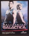 Magazine Ad For Battlestar Galactica TV Show, Television, Katee Sackhoff, Jamie Bamber, 2004