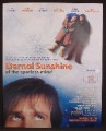 Magazine Ad For Movie, Eternal Sunshine Of The Spotless Mind, Kate Winslet, Jim Carrey, 2004