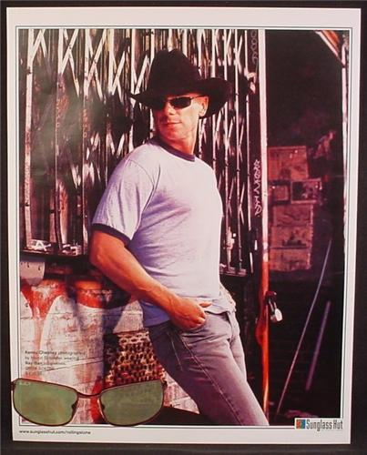 Magazine Ad For Sunglass Hut, Kenney Chesney, Celebrity Endorsement, Country Singer, 2004