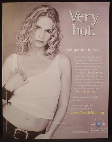 Magazine Ad For ClimateStar, Climate Change, Kyra Sedgwick, Celebrity Endorsement, 2004