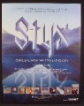 Magazine Ad For Styx Anthology Album, Come Sail Away, Music, 2004, 9 1/2 by 12