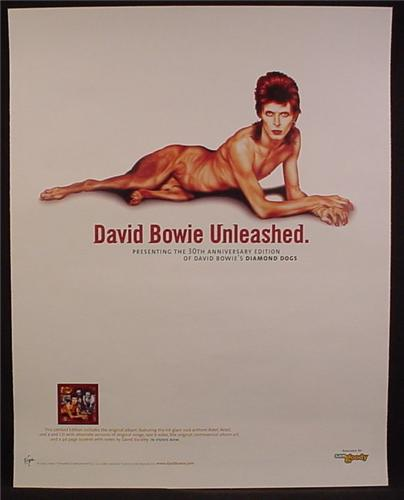Magazine Ad For David Bowie Unleashed, Music Album, David Bowie As Half Man Half Dog, 2004