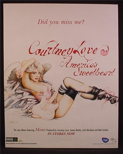 Magazine Ad For Courtney Love America's Sweetheart Album, Sexy Pin-Up, Pin Up, 2004