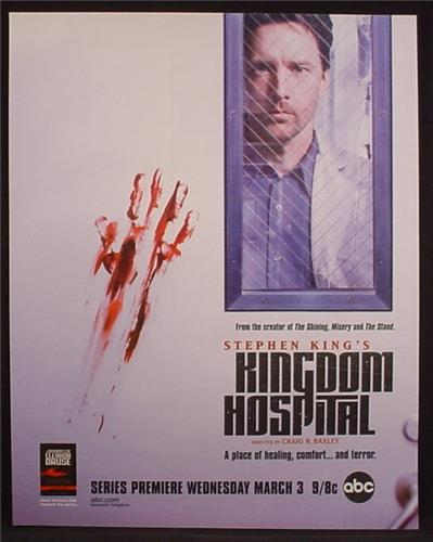 Magazine Ad For Stephen King's Kingdom Hospital TV Show, Television, ABC, Horror, 2004
