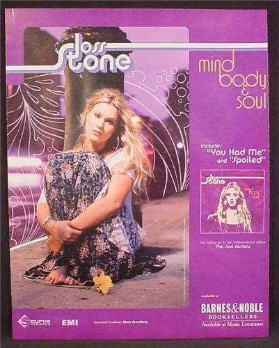 Magazine Ad For Joss Stone, Mind Body & Soul Album, Music, 2004, 9 1/2 by 12