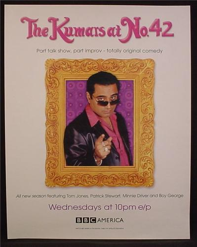 Magazine Ad For The Kumar's At No 42, BBC America TV Show, Television, 2004