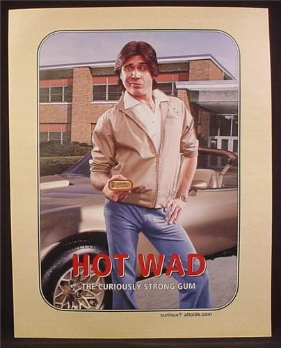 Magazine Ad For Altoids, Hot Wad, Guy With Something In His Pants, Funny, 2004, 9 1/2 by 12