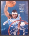 Magazine Ad For Got Milk, Carmel Anthony, NBA Basketball, Denver Jersey, 2004, 9 1/2 by 12