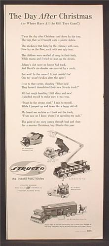 Magazine Ad For Structo Toy Vehicles, Vista Dome Horse Van, Mobile Merry Go Round, 1967
