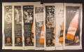 Lot of 7 Magazine Ads for Nesbitt's Of California Orange Soft Drink, 1940's and 1950's, 1/2 Page ads