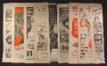 Lot B of 9 Magazine Ads for Movies, 1930's 1940's and 1950's, 1/2 Page ads, No Duplicates