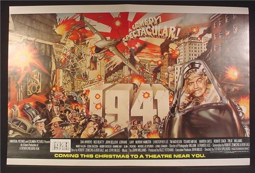 Magazine Ad For Movie 1941, John Belushi, Dan Akroyd, 1979, Poster, Centerfold Double Page Ad