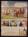 Magazine Ad For Canadian Club Whisky, Appian Way Chariot Racing In Rome Italy, 1955