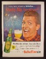 Magazine Ad For Ballantine XXX Ale Beer, Fireworks, Very Happy Man, That's Ale Brother, 1955