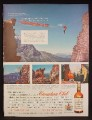 Magazine Ad For Canadian Club Whisky, Climbing Canada's Rockies, Tightrope Act, 1957