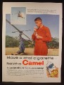 Magazine Ad For Camel Cigarettes, One Man Copter Pilot, Dick Peck, 1958