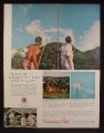 Magazine Ad For Canadian Club Whisky, Spear Target Practice in Tahiti, 1962