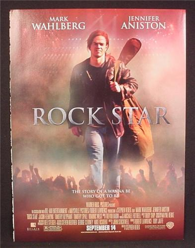 Magazine Ad For Movie Rock Star, Mark Wahlberg, Jennifer Aniston, Story Of A Wanna Be, 2001