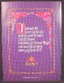 Magazine Ad For Crown Royal Whiskey, Crosstitch Sampler, Jack & Jill, 1991, 8 1/8 by 10 7/8