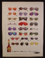 Magazine Ad For DeKuyper Cactus Juice Margarita Schnapps, 24 Different Sunglasses, 1991