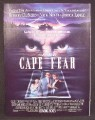 Magazine Ad For Movie Cape Fear, Robert De Niro, Nick Nolte, Jessica Lange, 1991