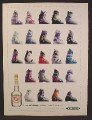 Magazine Ad For DeKuyper Peppermint Schnapps, 23 Different Ski Boots, 1991