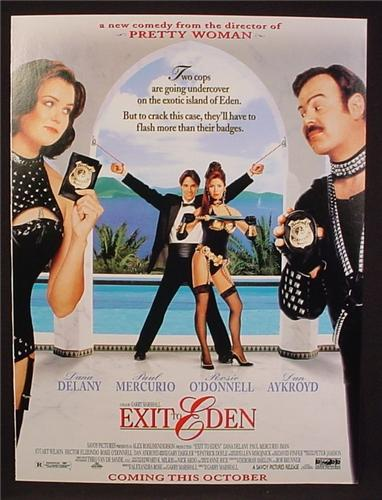 Magazine Ad For Movie, Exit To Eden, Dana Delany, Dan Akroyd, Poster, 1994, 8 1/8 by 10 7/8