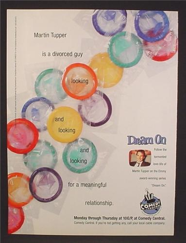 Magazine Ad For Dream On TV Television Show, Bunch Of Condoms, Meaningful Relationship, 1996