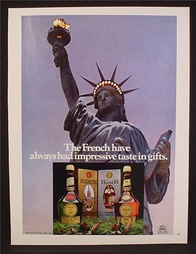 Magazine Ad For Benedictine and B&B Liqueurs, Statue of Liberty, 1980