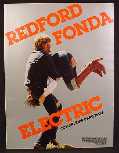 Magazine Ad For Electric Horseman Movie, Robert Redford, Jane Fonda, 1980