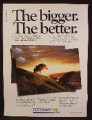 Magazine Ad For Fotomat, The Bigger The Better, Enlargements, Yellow Roof Hut Booth, 1980