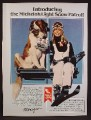 Magazine Ad For Michelob Light Beer Ski Patrol, St Bernard Dog with 6 Pack Of Cans, 1980
